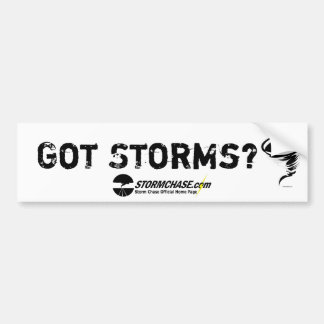 Got Storms? Bumper Sticker