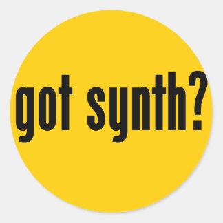 got synth? classic round sticker