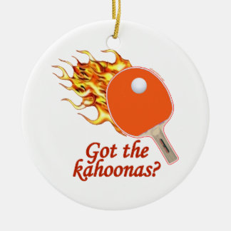 Got The Kahoonas Flaming Ping Pong Ceramic Ornament