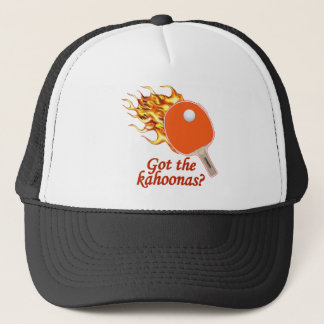 Got The Kahoonas Flaming Ping Pong Trucker Hat