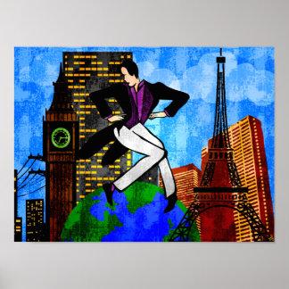 Got The World At My Feet (Fine Art Print) Poster