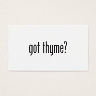 got thyme business card