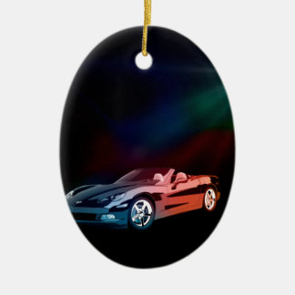 Got to LOVE the Corvette Ceramic Ornament