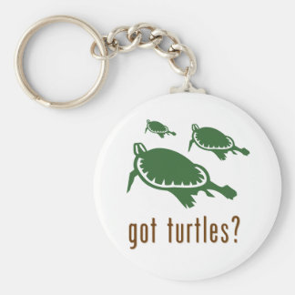 got turtles? basic round button keychain