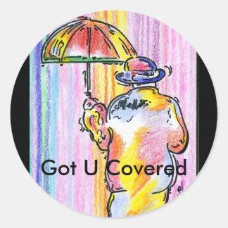 Got U Covered Round Sticker