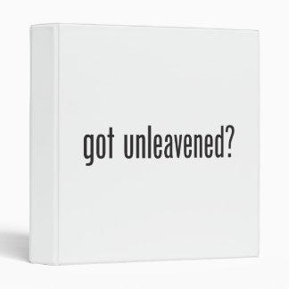 got unleavened vinyl binder