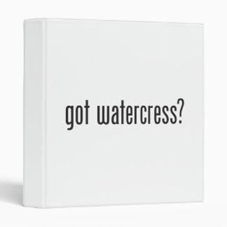got watercress 3 ring binder
