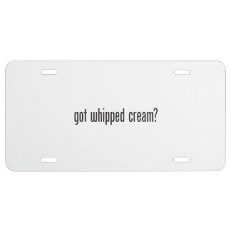 got whipped cream license plate