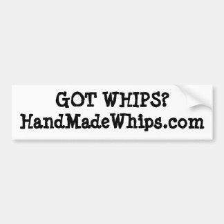 GOT WHIPS?HandMadeWhips.com Car Bumper Sticker