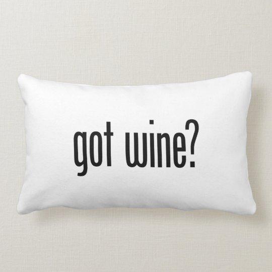 got wine lumbar pillow