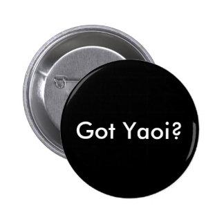 Got Yaoi? button, round black 2 Inch Round Button