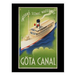 Gota Canal Sweden Postcard