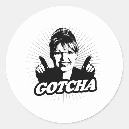 Gotcha Journalism Round Stickers