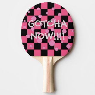 Gotcha Now Cute Funny Pink Ping Pong Paddles
