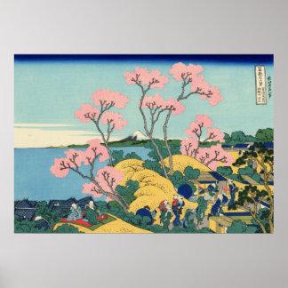 Goten-yama Hill, Shinagawa on the Tōkaidō Poster