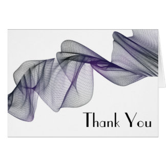 Goth Black & Purple Veil Thank You Cards