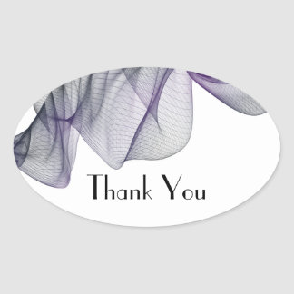 Goth Black & Purple Veil Thank You Stickers