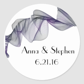 Goth Black & Purple Veil Wedding Stickers