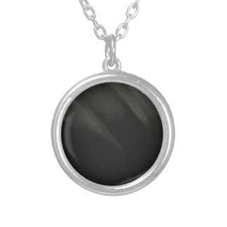 Goth Black Silver Plated Necklace