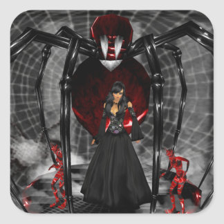 Goth Black Spider Stickers