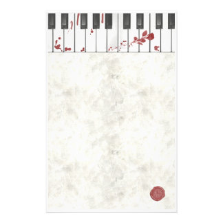 Goth Bloodstained Piano Stationery