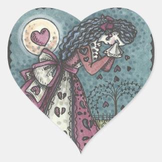 Goth Broken Valentine HEART STICKERS Sheet