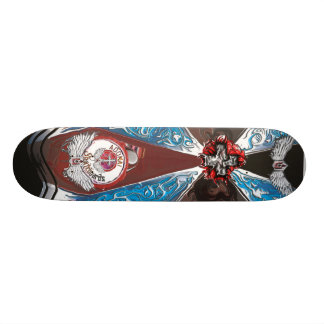 Goth burst with wings skate board