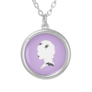goth cameo silver plated necklace