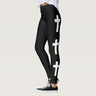 Goth cross fashion leggings