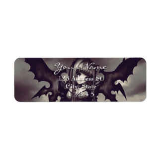 Goth Dark Anime Fairy Return Address