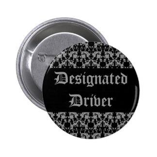 Goth designated driver 2 inch round button