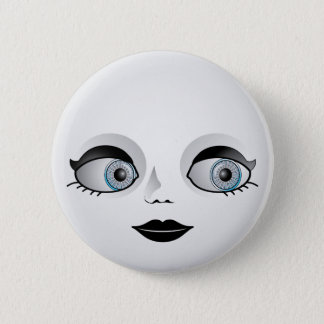 Goth Doll Face 2 Inch Round Button