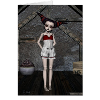 Goth Doll Tempest - Greeting Card