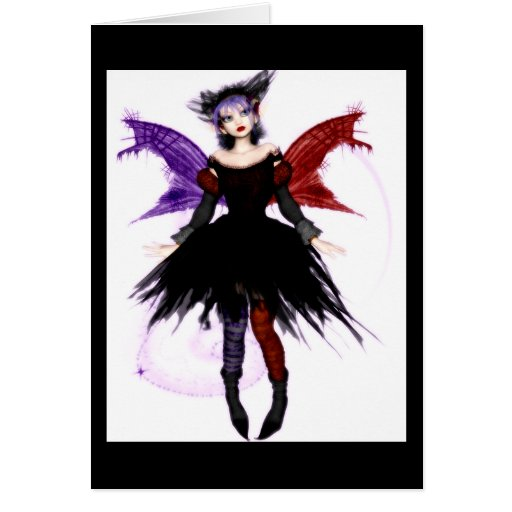 Goth Fairy - Blank Card