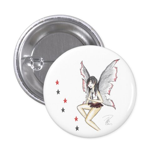 """""""Goth Fairy"""" Button"""