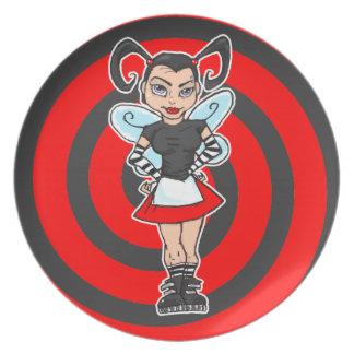 Goth Fairy Plate