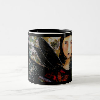 Goth Fairy Two-Tone Coffee Mug