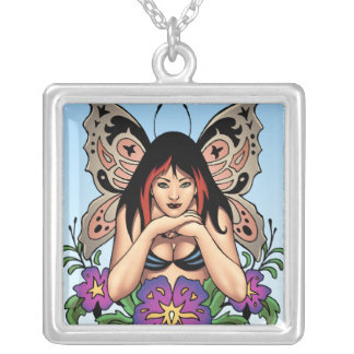 Goth Fairy with Flowers, Butterfly Wings by Al Rio Jewelry