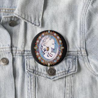 Goth Girl 3 Inch Round Button
