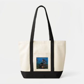 Goth Girl And Dragon Tote Bag