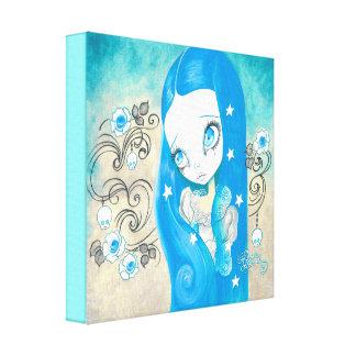 Goth Girl Sapphyre Canvas Prints