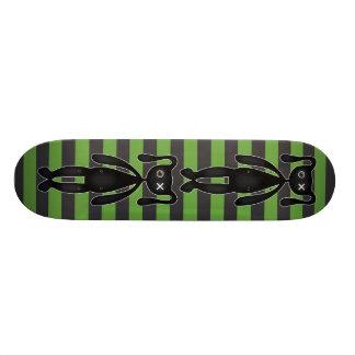 Goth Green and Black Bunny Skate Decks
