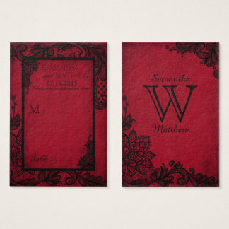 Goth Grunge Lace Wedding Place Cards