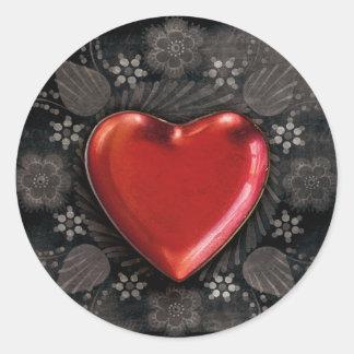goth heart love stickers