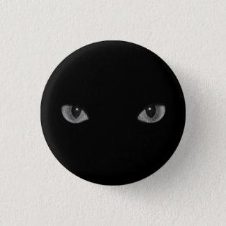 Goth Kitty Cat Eyes 1 Inch Round Button