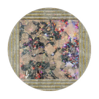 Goth Lace Roses Cutting Board