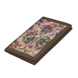 Goth Lace Roses Trifold Wallets