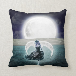 goth moon angel pillow