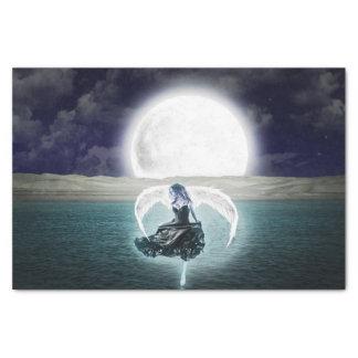 goth moon angel tissue paper