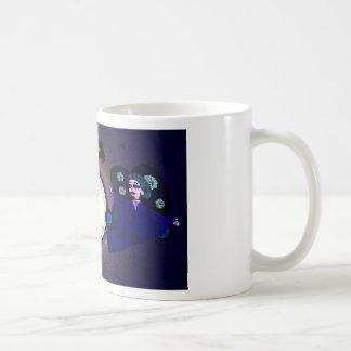 Goth Moths circling the light Basic White Mug